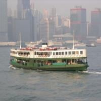 Zicht op de Star Ferry