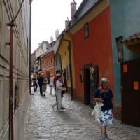 Wandelaars in het Gouden Straatje