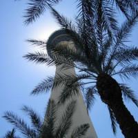 Onder aan de Stratosphere Tower