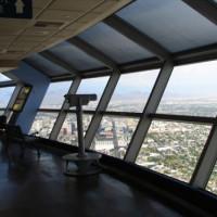 Binnen in de Stratosphere Tower