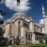 Zijaanzicht van de Süleymaniye Moskee