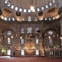 Interieur van de Süleymaniye Moskee