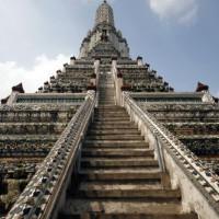 Aan de voet van het Wat Arun