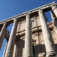 Zuilen van de Tempel van Antoninus en Faustina