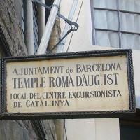 Naambord van de Tempel van Augustus