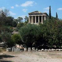 Onder aan de Tempel van Hephaistos