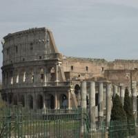 Zicht op de Tempel van Venus en Roma