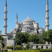Vergezicht op de Blauwe Moskee