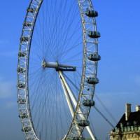 Zijaanzicht van het London Eye