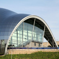 Zijaanzicht van The Sage Gateshead