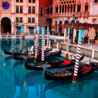 Gondels bij The Venetian