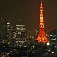 Nachtbeeld van Tokyo Tower