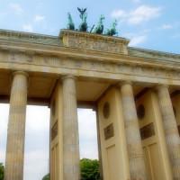 Close up van de Brandenburger Tor