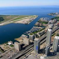 Zicht op de Toronto Islands