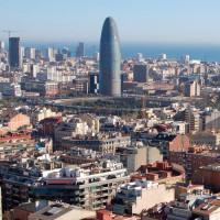 Vergezicht op de Torre Agbar