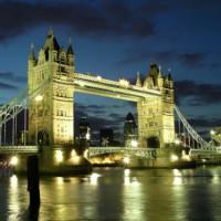 Zijkant van de Tower Bridge