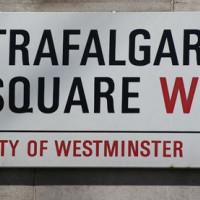 Naambord van Trafalgar Square