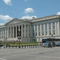 Overzicht van het Treasury Building