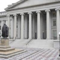 Trappen aan het Treasury Building
