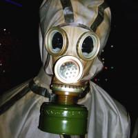 Gasmasker in het Tsjernobylmuseum