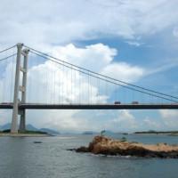Deel van de Tsing Ma Bridge