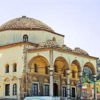 Vooraanzicht van de Tzisdarakis Moskee