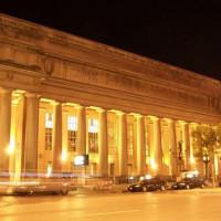 Nachtbeeld van Union Station