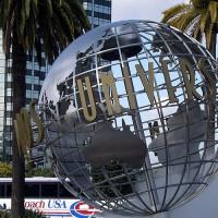 Wereldbol aan de Universal Studios