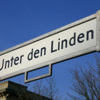 Naambord Unter den Linden