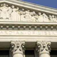 Fronton van het US Supreme Court