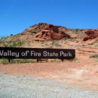 Naambord van het Valley of Fire State Park
