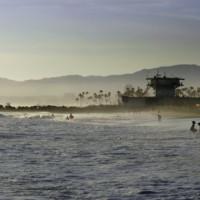 De oceaan bij Venice Beach
