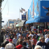 Mensen op Venice Beach
