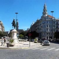 Kasseien rond het Praça da Liberdade