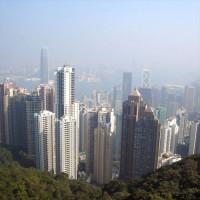 Wolkenkrabbers in Hongkong