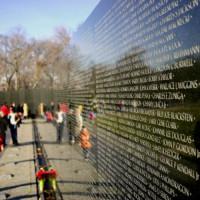 Muur van het Vietnam Veterans Memorial