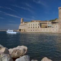 Vaargeul in de Vieux Port van Marseille
