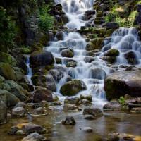Waterval in het Viktoriapark