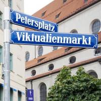 Naambord van de Viktualienmarkt