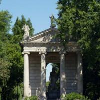 Bouwwerk aan de Villa Borghese
