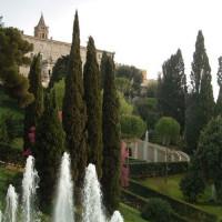 Zicht op de Villa d'Este