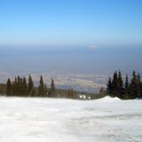 Sneeuw op de Vitosha