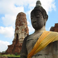 Boeddhabeeld bij het Wat Mahathat