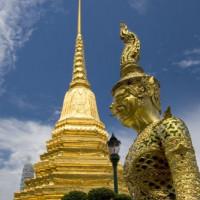Spitse top van het Wat Phra Kaew