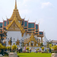 Vergezicht op het Wat Phra Kaew