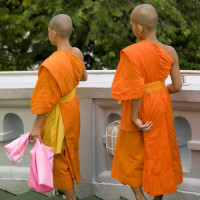 Monniken in Bangkok