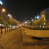 Avond op het Wenceclasplein