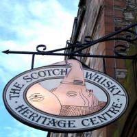 Naambord van het Scotch Whisky Heritage Centre