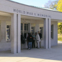 Aan het National World War II Memorial