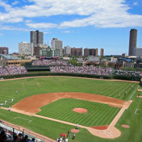 Zicht over Wrigley Field